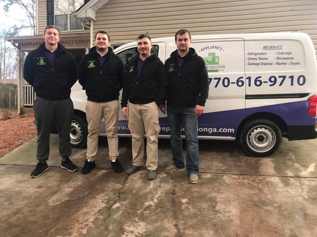 Appliance Repair In Atlanta Crew Near Van